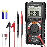 Digital Multimeter,Meterk TRMS 10000 Counts Voltmeter Auto-Ranging Digital Multimeter Tester,Measures Voltage Current Amp Diodes Resistance Continuity Duty-Cycle Capacitance Temperature for Automotive