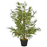 mewmewcat Planta Artificial árbol ciprés con macetero 90 cm Verde