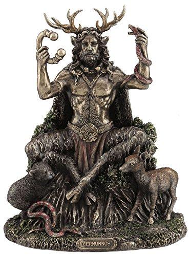 9' Cernunnos Sitting Statue Sculpture Celtic God Figure Figurine Decor
