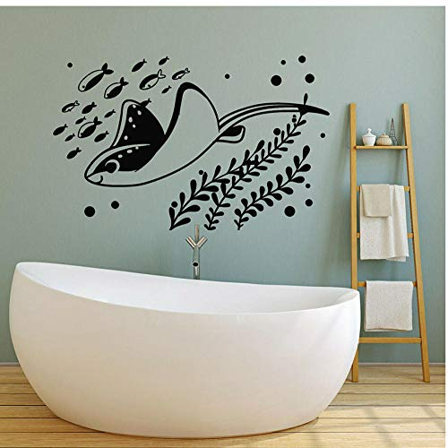 Wall Stickers,Fish tank aquarium Home Decor For Art Wall PVC DIY Living Room Carved Custom Fashion Nursery Waterproof Self-sticking 57x89cm