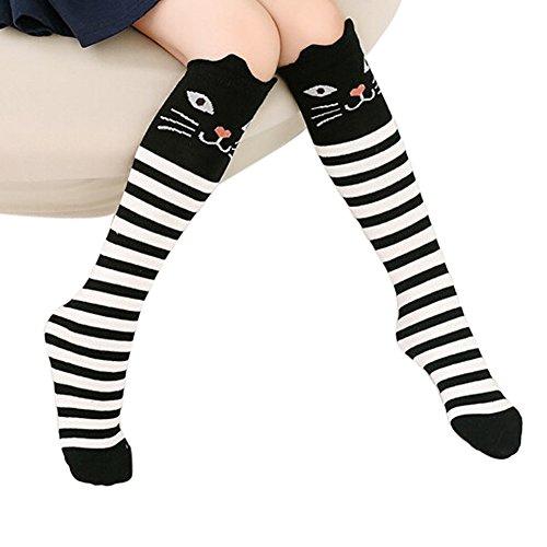 TININNA Chaussettes Hautes Genou Enfant Crochet Coton Animaux Longue Bébé Fille Leg Warmer Sock Leggings 5