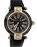 Cerruti 1881Keramik crwm040z282N Damen Armbanduhr 36mm, Lederband, schwarz Rose Gold Ton