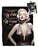 Midsouth Products Marilyn Monroe Throw Blanket 50' X 60' Women's World