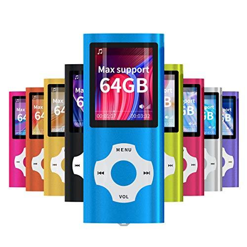 Mymahdi – Digital, Compact et Portable Lecteur MP3/MP4 (Max Support 64 GB) avec Photo Viewer, E-Book Reader et Radio FM Enregistreur Vocal et vidéo vidéo en Darkblue …