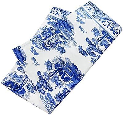 スポード(Spode) 手ぬぐい ブルー 74cm×48cm ブルーイタリアン X0015048337