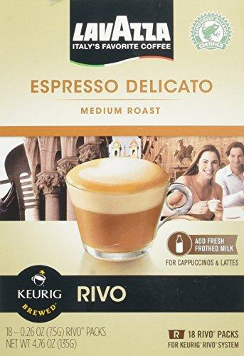 Lavazza Espresso Delicato Medium Roast for Keurig Rivo System 18-0.26 0z (2 pack)