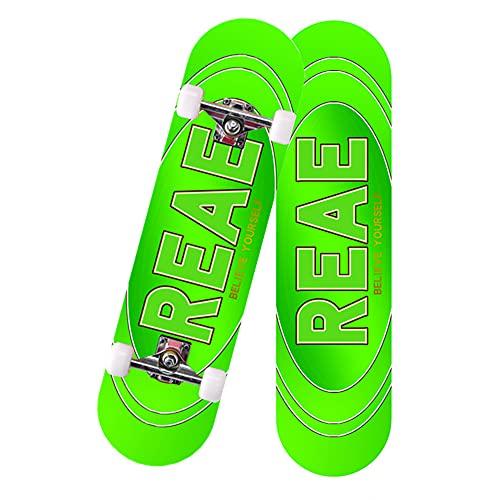 GCJJ-HSY 7 Plantas Canadá Maple Longboard Adulto Skateboard Principiante Muchacho Grabado, Downhill, Freestyle Y Reducción De La Velocidad (yibo con El Párrafo - Rueda Ordinaria)