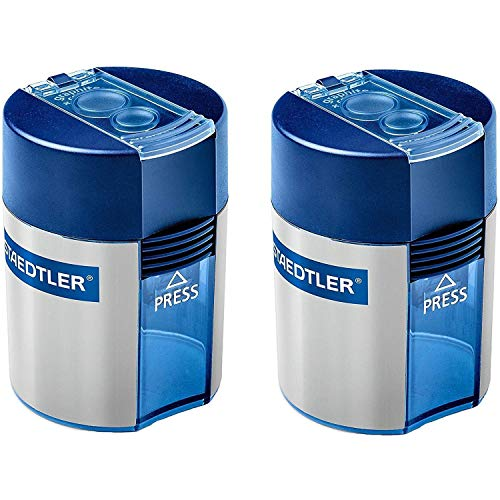 Staedtler Double-hole Tub Pencil Sharpener, No Packing (2 Pack)
