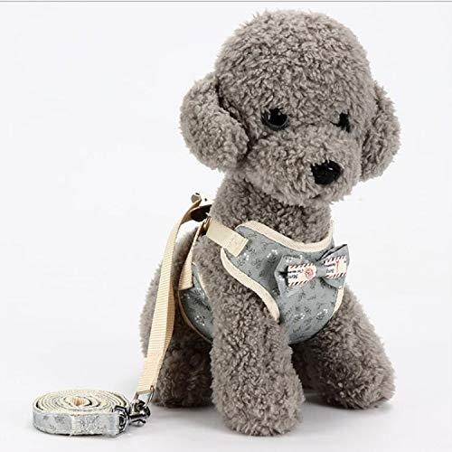 SHW Universal-Dog Back Pet Chest Touw Traction-touw-ketting hondenriem, maat: M (marineblauw) mode met goed comfort, grijs