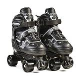 Byox Rollschuhe Darth schwarz Verschiedene Größen PVC-Bremse PU-Räder ABEC-5, Größen:Gr. 38-41