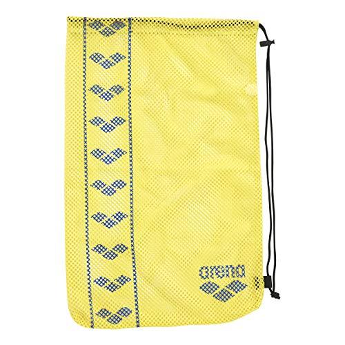 arena(アリーナ) プールバッグ 水泳用 メッシュバッグ M AEANJA11 Fイエロー × ブルー F