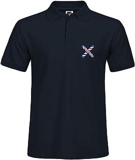 KristyLogan Solid Polo con Stampa da Barbiere palo Crossed Retro Estate Sport Camicia Taglia
