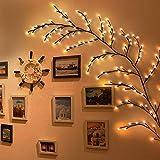 Albero LED Decorazione Domestica Albero con Luci 144 Led Da Interno Natale Albero Luminoso Artificiale(Bianco caldo, plug-in)