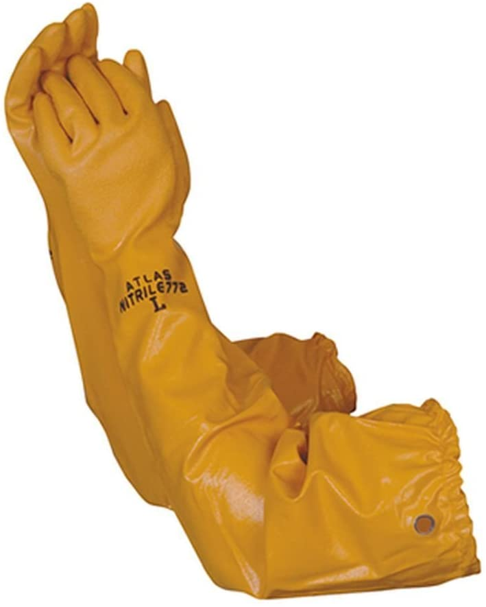 Atlas 772 Max 53% OFF 26-inch Nitrile X-Large Elbow Chemical Resistan Length NEW before selling
