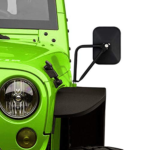 Doors Off Mirrors Compatible with Jeep Wrangler CJ TJ JK JL Rectangular Side Mirrors Off-road Mirror, 2 PACK