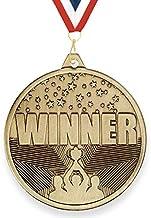 Trophy Monster Winnaar medaille met GRATIS lint 50mm gestempeld ijzer | Antieke gouden afwerking