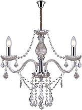 Lustre de Cristal para 3 Lâmpadas E14 Glam Taschibra Conhaque