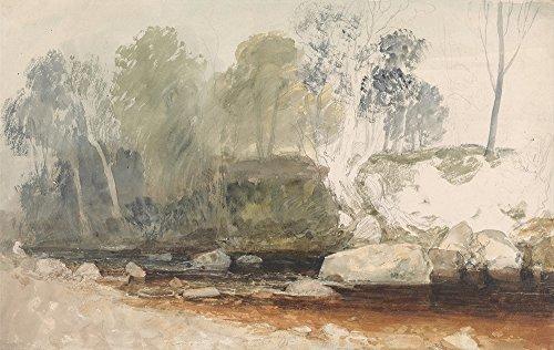 Spiffing Prints Joseph Mallord William Turner - On The Washburn - Large - Archival Matte - Black Frame