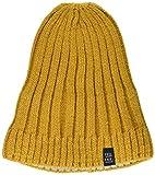 maximo Jungen randlos mit Rippstruktur Mütze, Gelb (Strohgold 12), (Herstellergröße: 53/55)