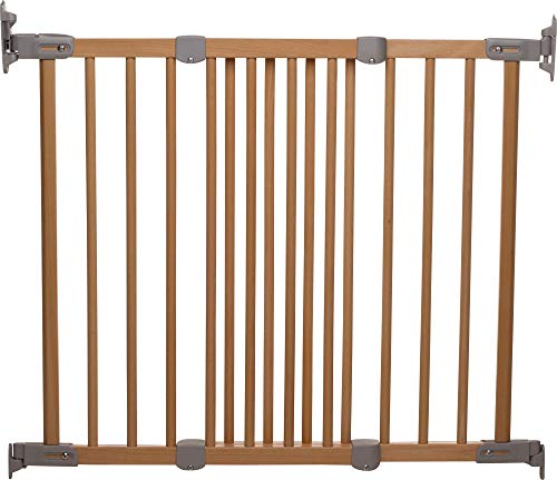 BabyDan Silkeborg Extending Angle Mount Fsc Approved Beechwood Safety and Stair Baby Gate, 69Cm-106.5Cm / 27.2'-41.9', Made in Denmark