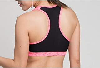 ZYDP Women's Sports Bra Yoga Work Out Bra Padded Running Crop-top (Color : Pink, Size : S)