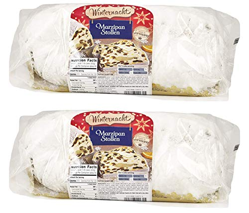Marzipan Stollen, Imported from Germany, 26 Ounces / 750 grams (26 Ounces, 2-Pack)