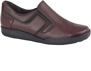 Mod Comfys Womens/Ladies Leather Twin Gusset Casual Shoe