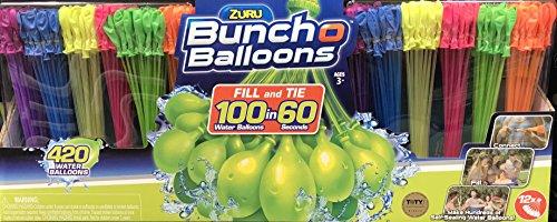 Zuru Bunch O Balloons Self-Sealing, Globos de Agua de llenado rápido (Paquete de 420)