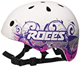 Roces ce Tattoo Aggressive Helmet–Casque pour Los patinadores Unisexe M Blanco/Violeta