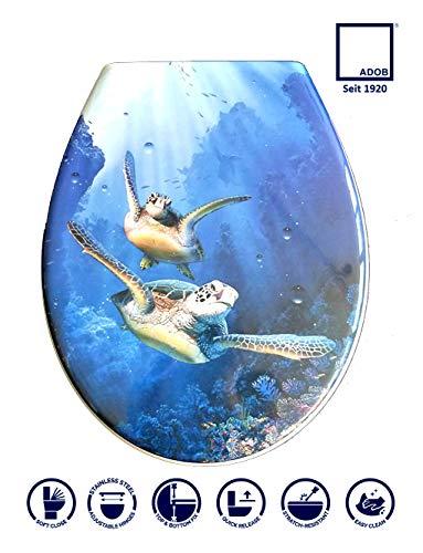 Duroplast WC Sitz Klobrille Modell Schildkröte mit Absenkautomatik, zur Reinigung abnehmbar
