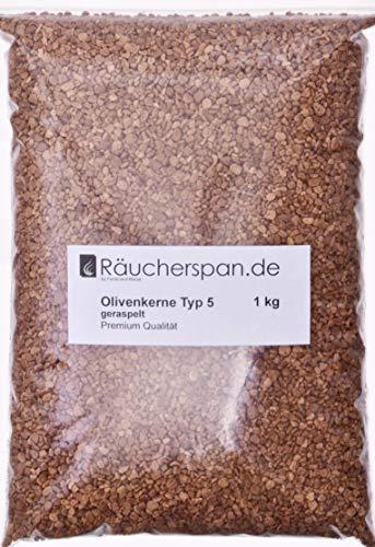 Olivenkerne zum Räuchern, getrocknet geschreddert Typ 5 für Kaltrauchgeneratoren geeignet z.B. Borniak (1.)