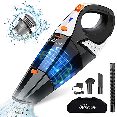 Sale!! Hikeren Handheld Vacuum, Hand Vacuum Cordless 7Kpa Strong Suction Powered by Li-ion Battery R...