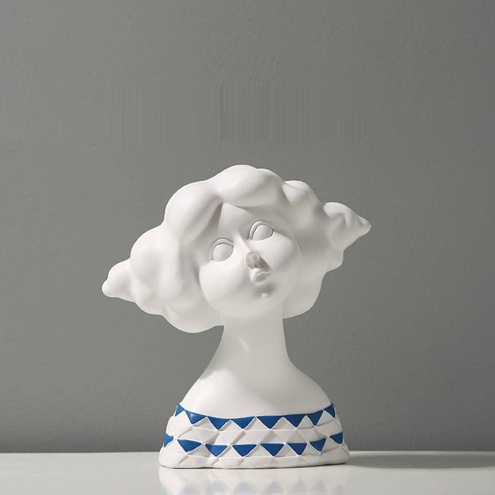 ZQQQC Head Sculptures Wall Sculpture excellence Ranking TOP1 Girl Resin Model