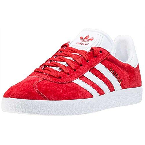 adidas Gazelle, Zapatillas de deporte Unisex niños, Rojo (Scarlet/Ftwr White/Gold Met.), 36 2/3 EU
