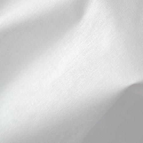 Tela de algodón - blanco - 100% algodón suave | ancho: 155 cm (1 metro)