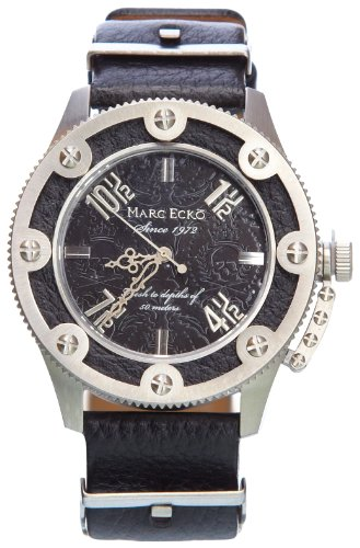 Marc Ecko Reloj Análogo clásico para Hombre de Cuarzo con Correa en Cuero E12584G1