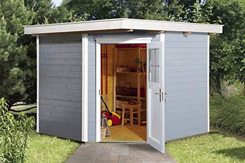 weka Gartenhaus 229 Gr.2, grau, 21 mm