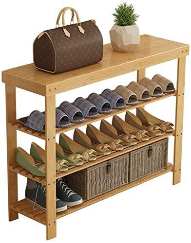 XWZH Zapatero a prueba de polvo de 3 niveles de madera maciza, Nanzhu zapatero de almacenamiento económico para el hogar, dormitorio, para sala de estar, zapatero (tamaño: 80 cm)