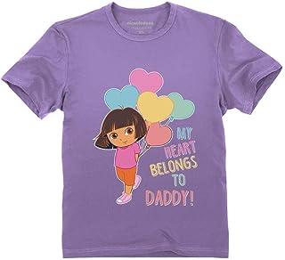Dora The Explorer My Heart Belongs to Daddy Official Dora Toddler Kids T-Shirt