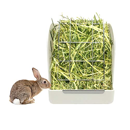 Sikawai Plastic Pet Rabbit Hay Feeder Cage Attachment,Suitable for Guinea Pig and Chinchilla -...