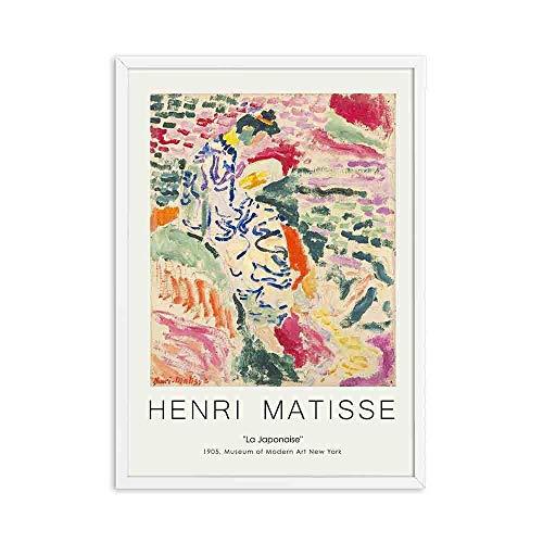 Vintage Henri Matisse carteles e impresiones retro paisaje abstracto muebles para el hogar pintura decorativa sin marco E 30x40cm