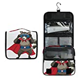 Bolsa de Aseo Colgante Skunk Superhéroe para cosméticos para Mujeres y niñas, multifunción, Bolsa de Maquillaje, Bolsa de Lavado