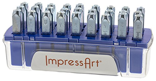 ImpressArt Varsity Uppercase Letter Metal Stamps Set
