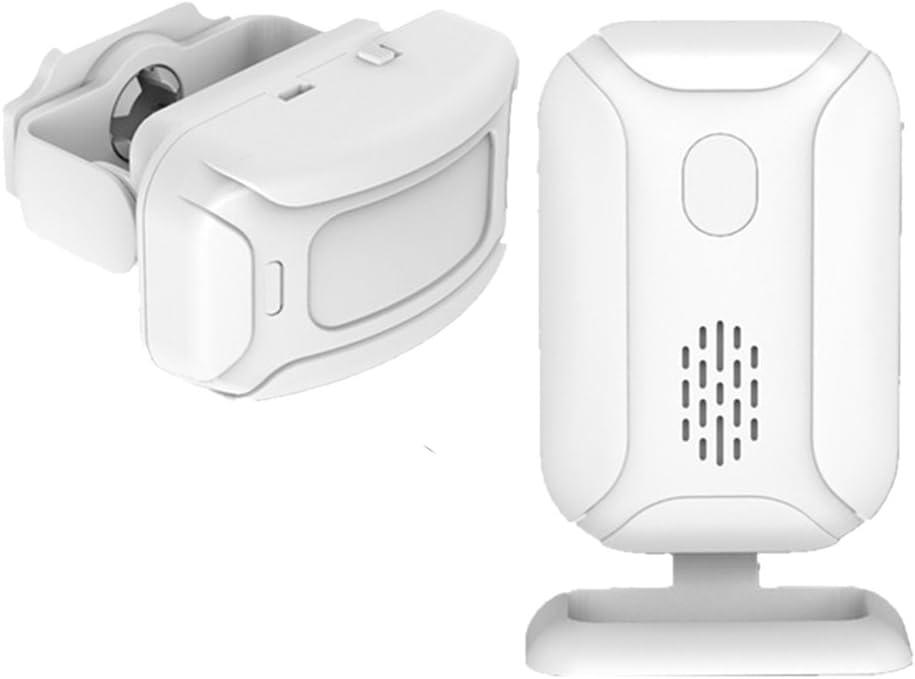 Homyl List price Limited time sale Wireless PIR Motion Sensor Detector Bell Door Gate W Entry