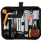 Odoukey Útiles de Limpieza Mantenimiento Guitarra Kit de Mantenimiento Cortador de Alambre Set 26pcs