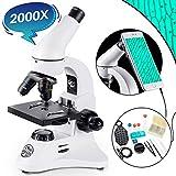 BEBANG 200X-2000X Microscopio per Bambini, Studenti e Adulto, Messa a Fuoco Grossolana e F...
