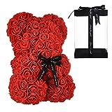 Orso di Rose Orsetto di Rosa Orsacchiotto di Rosà Altezza 25 cm Teddy Bear Rosse Idea Regalo Regali...