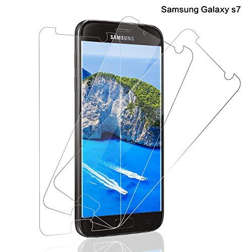 Panzerglas Displayschutzfolie für Samsung Galaxy S7, [3 stück] 9H Härte Panzerglasfolie für Galaxy S7, Anti-Kratzer Schutzglas, Anti-Öl, Bläschenfrei Transparent, Galaxy S7 Panzerglas Schutzfolie