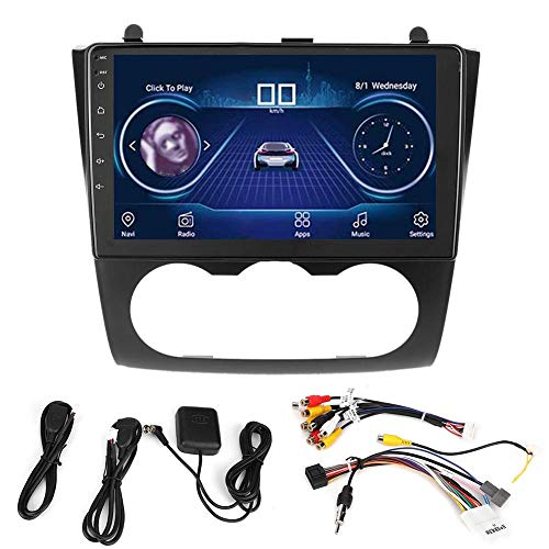 Navegación GPS, Navegador GPS 2Din 9in Coche Reproductor MP5 Video Audio estéreo para Android 9.1 Se adapta a Nis-san Teana 2008-2012 Aire acondicionado manual