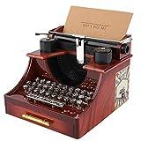AUNMAS Carillon macchina da scrivere stile vintage con cassetto Scatola portaoggetti per gioielliere Gioielliere per San Valentino Regalo di Natale Decorazioni per la casa